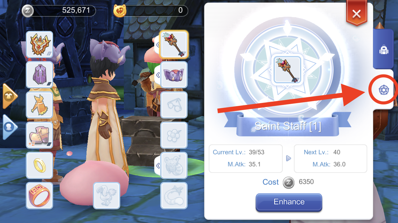 enhance gears in ragnarok m to increase damage