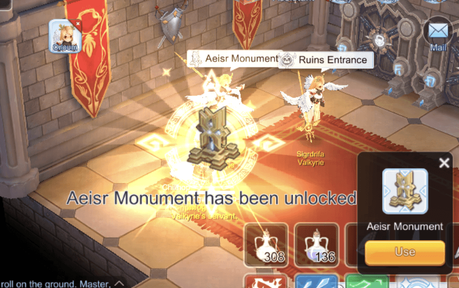 ragnarok mobile eternal love guild runes aeisr monument