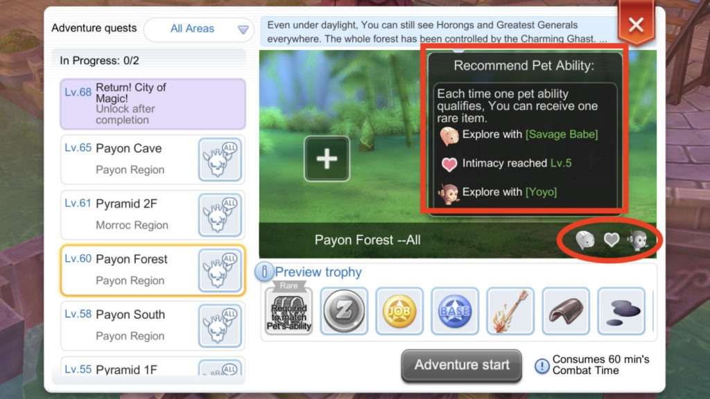 rare chest item requirement pet adventure ragnarok mobile eternal love