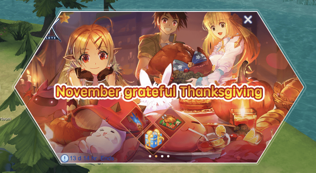 ragnarok m eternal love november grateful thanksgiving