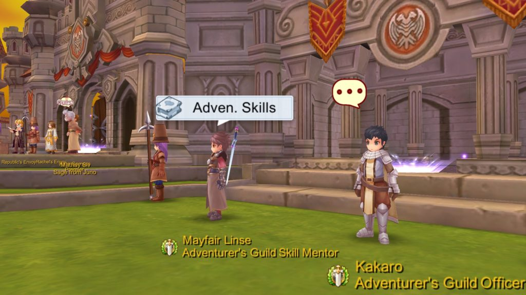 Kakaro Adventurer Rank Up Quest NPC and Adventurer Skills Shop NPC in Prontera