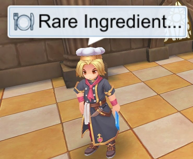 Rare Ingredients and Primary Ingredients Shop NPCs in Cooking Center Hall Cuisine Association