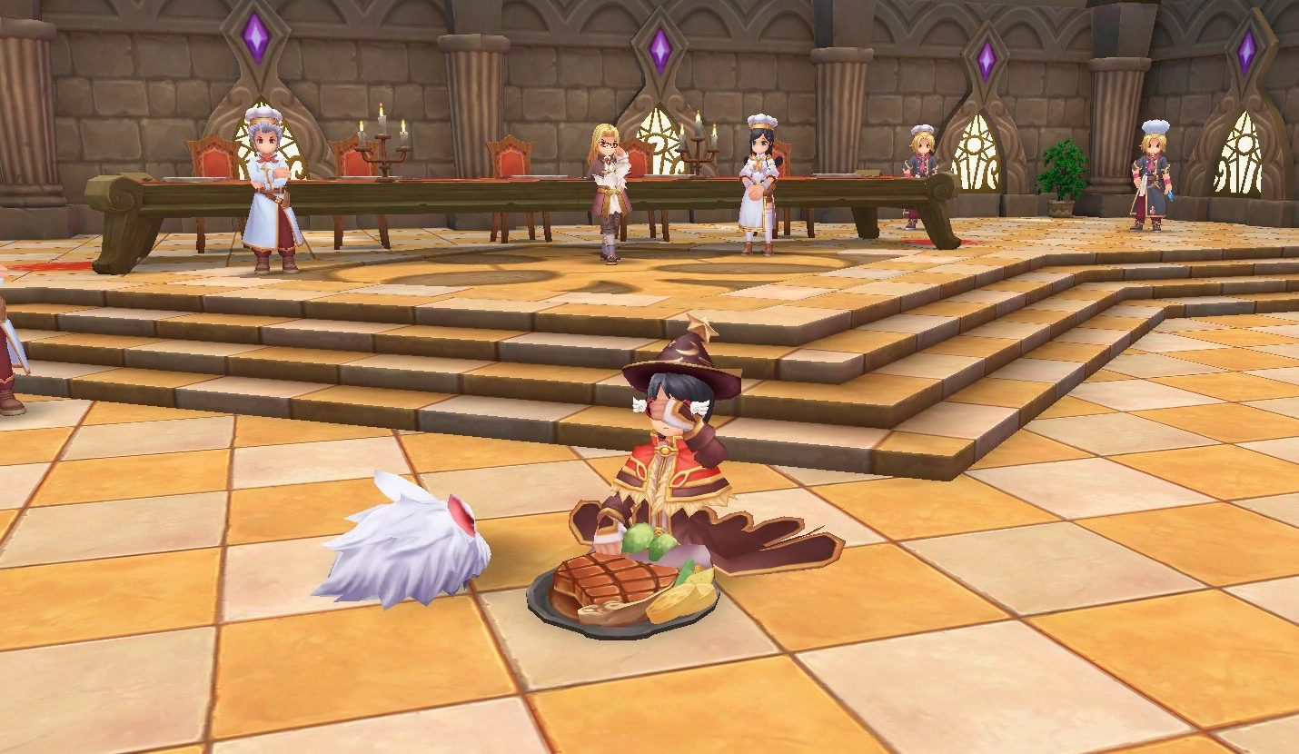eating gourmet food in cooking center prontera
