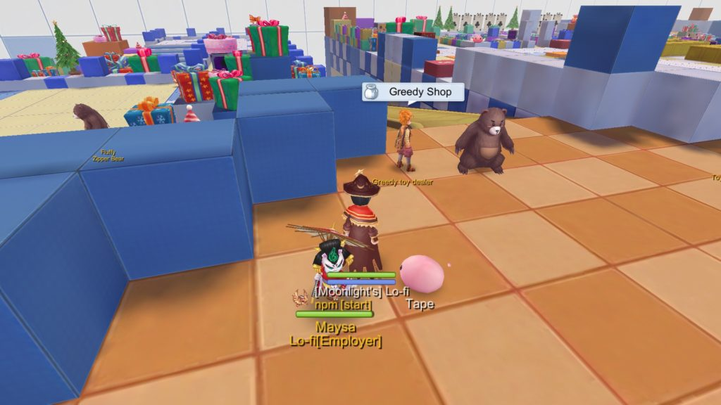 greedy shop npc in toy factory 1f