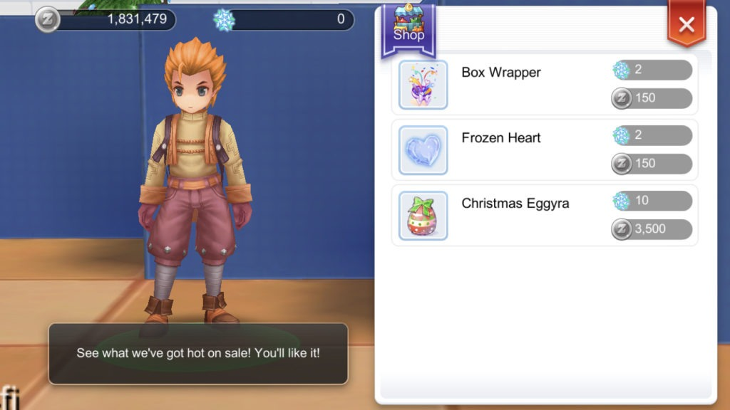 greedy shop npc sells rare items using edelweiss and zeny