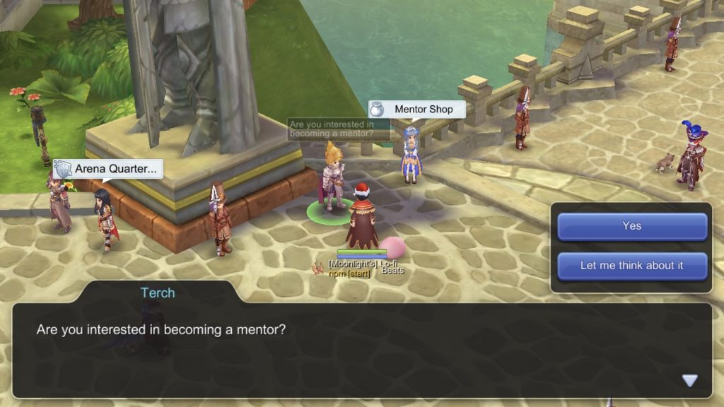 Talk to Terch NPC Adventurer Guild Senior Mentor in Prontera at level 85 to start quest to become a Mentor