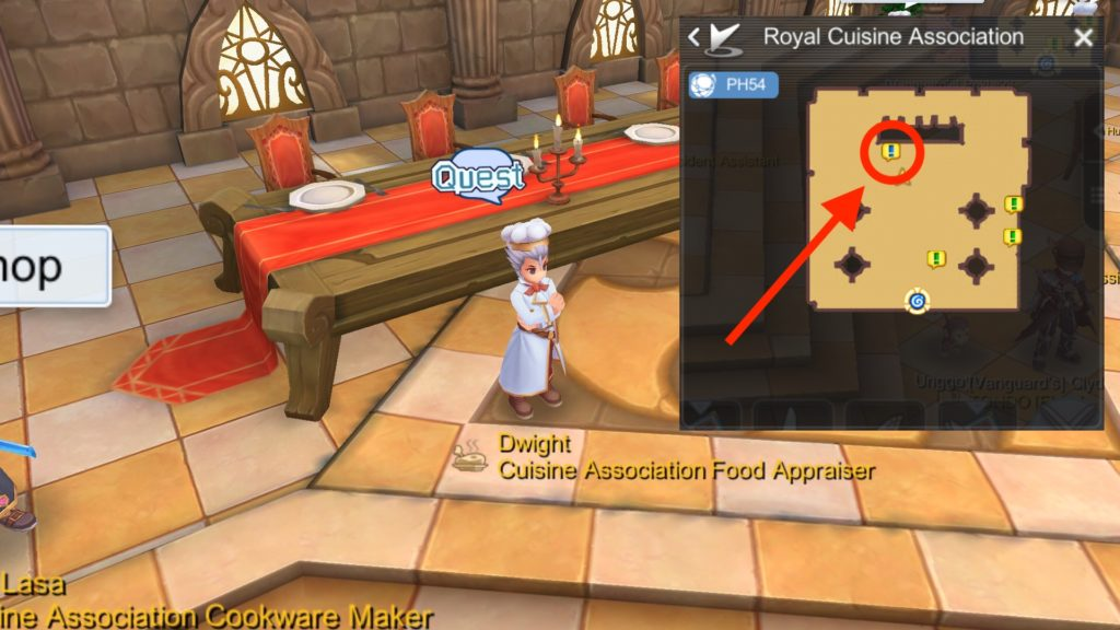 Dwight Cuisine Association Daily Cooking Quest NPC