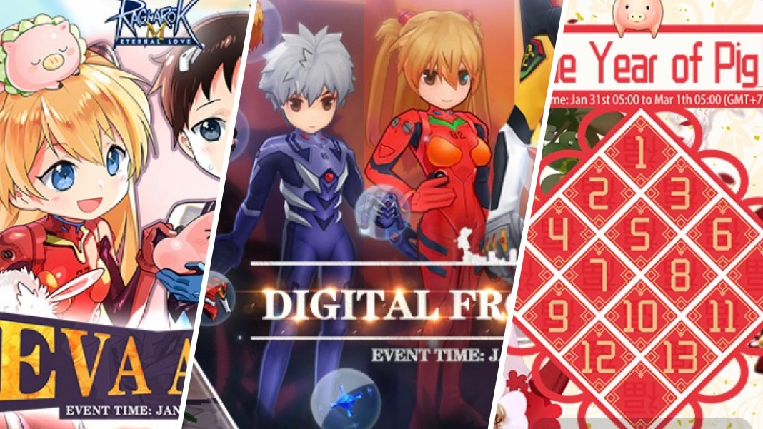 Evangelion EVA Spring Festival Year of Pig Gachapon events for Ragnarok M Eternal Love
