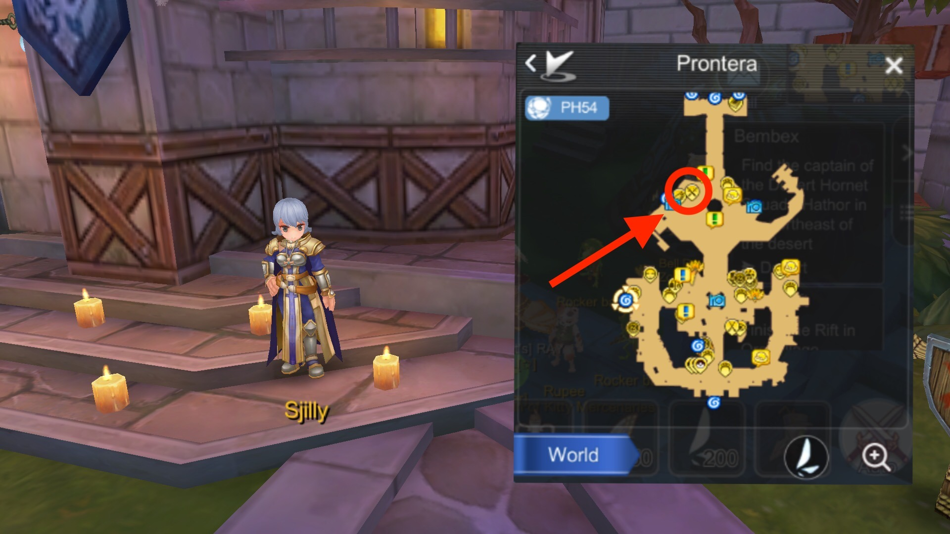 Sjilly NPC to unlock job breakthrough in Prontera to achieve job level 70