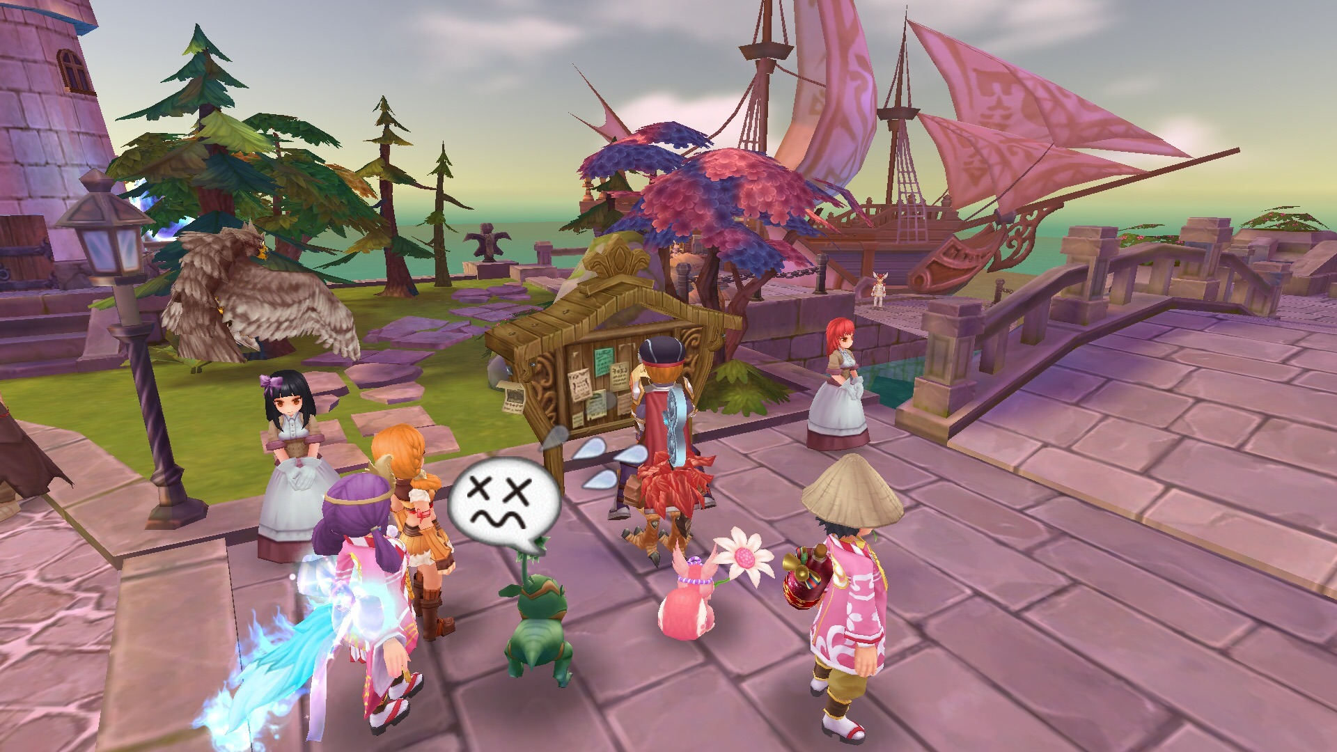 Add your party mates to your friend list and go to Izlude Mission Board NPC