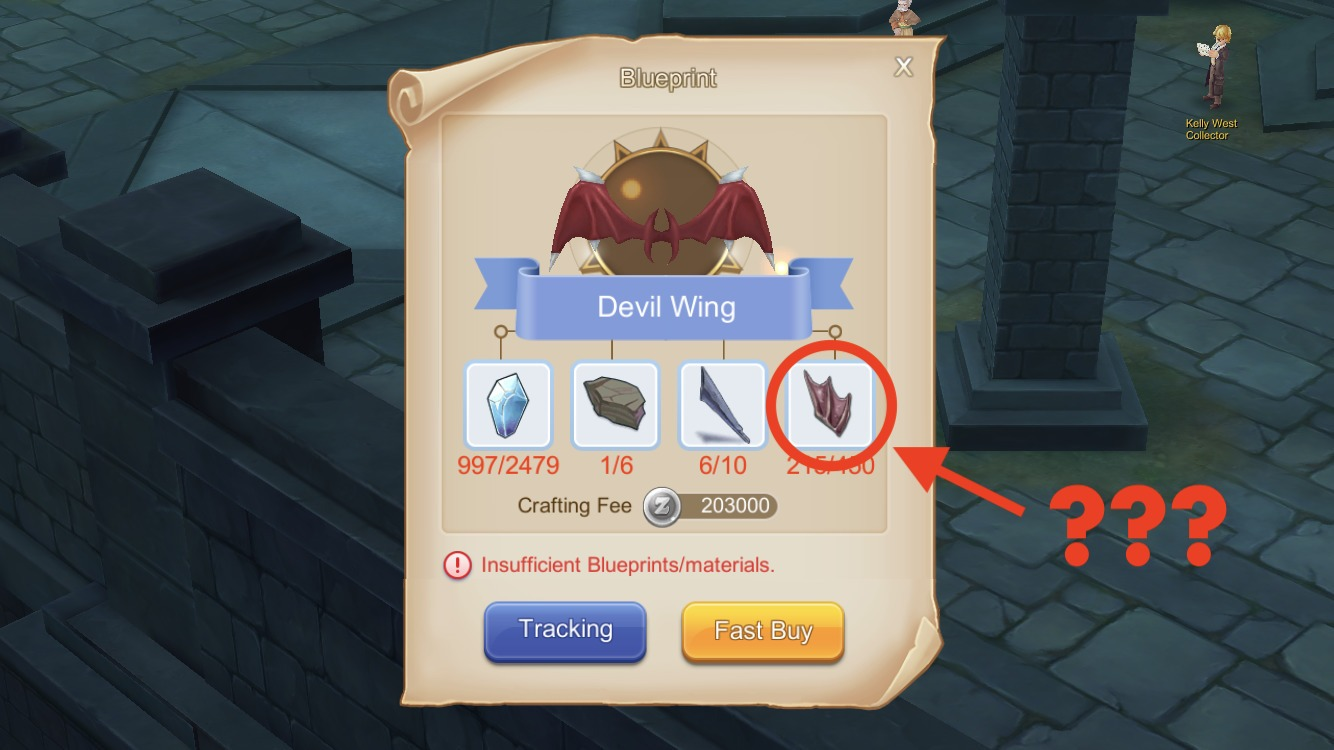 How to get Black Wings used to craft Devil Wing