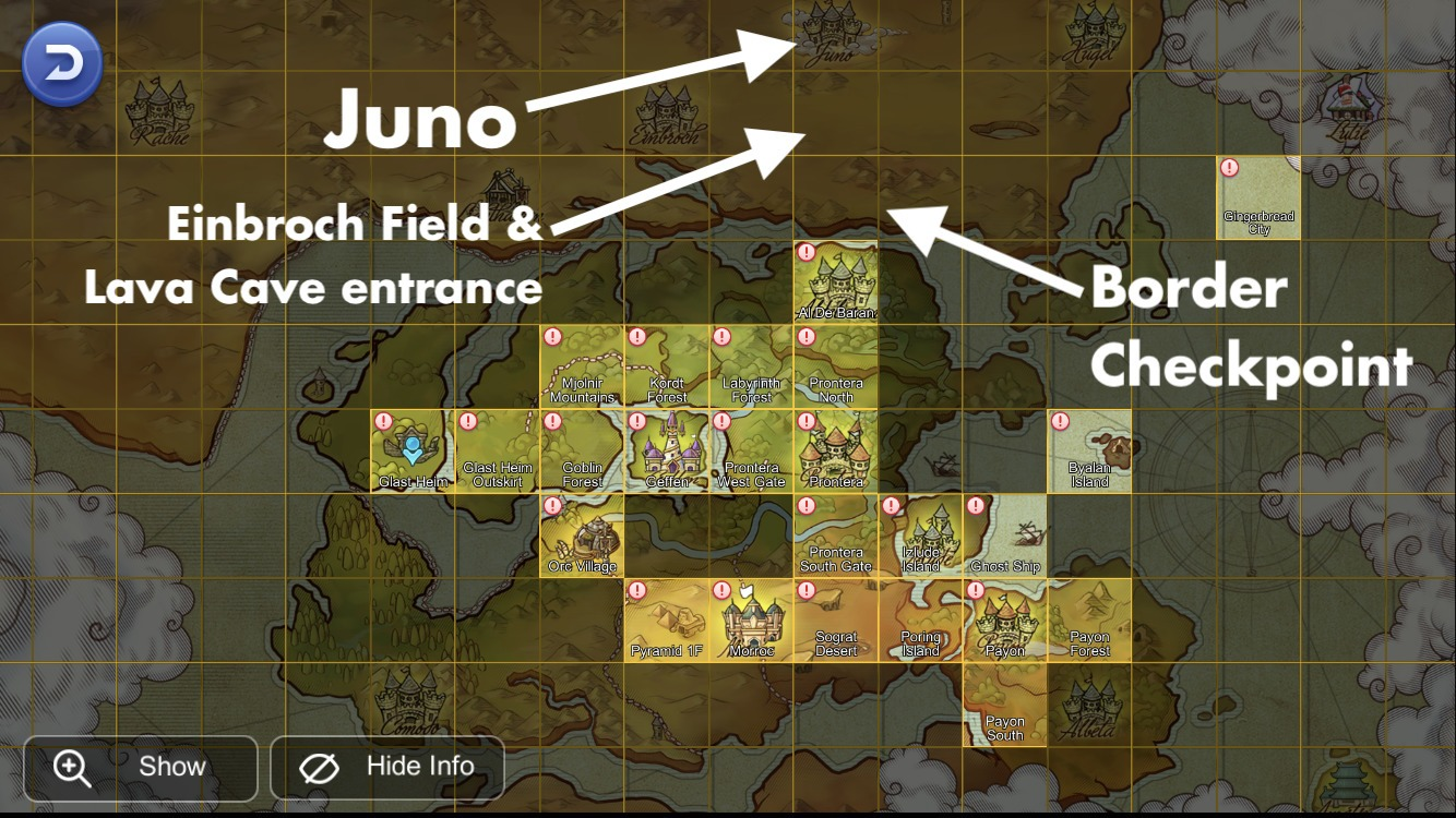 Juno Border Checkpoint einbroch and Lava Cave locations above Aldebaran map
