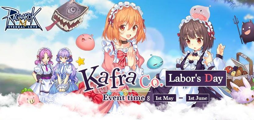 Kafra Co Labor Day May events daily for Ragnarok Mobile eternal Love