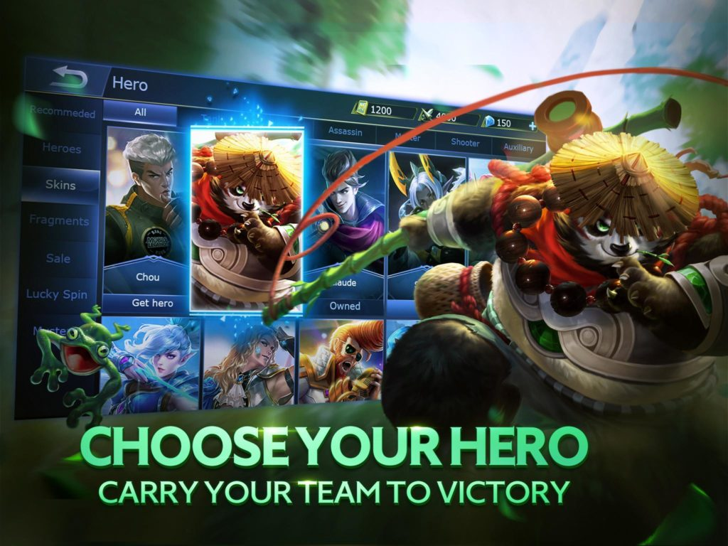Mobile Legends choose your hero victory