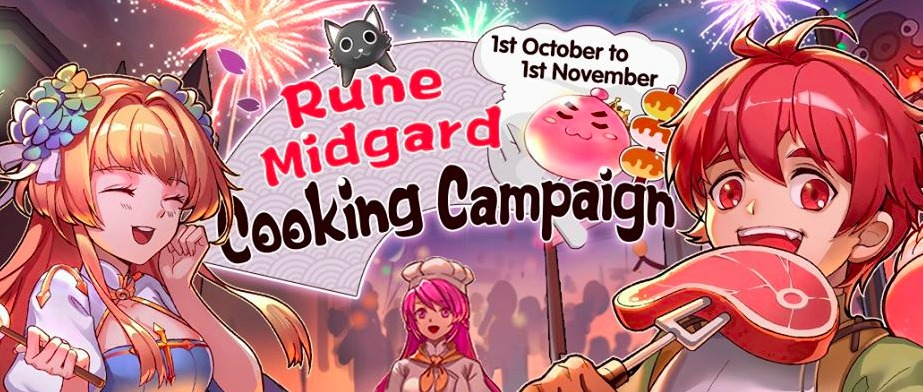 October Event Ragnarok Mobile Eternal Love Rune Midgard Cooking Campaign