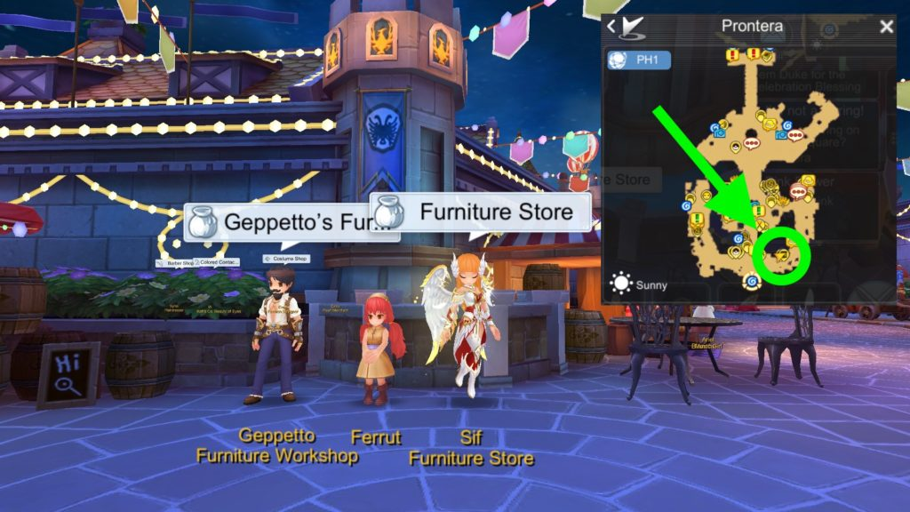 Geppetto Sif Furniture Shop NPC for Housing System Ragnarok Mobile 1