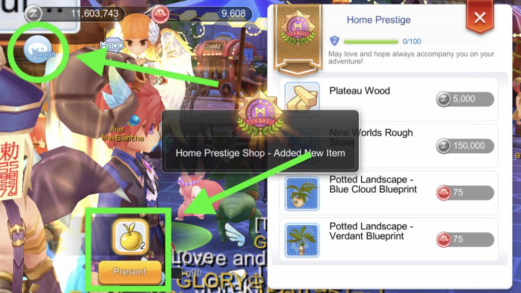 How to increase Home Prestige by giving Golden Apples housing system Ragnarok Mobile 1